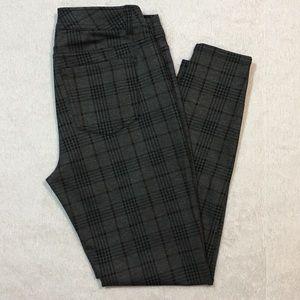 Maurice's skinny pant, charcoal plaid, M regular.
